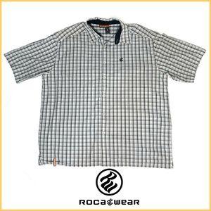 Roca Wear  3XL Short Sleeve, Button Down Size